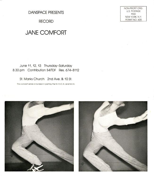 Postcard Danspace / St Marks