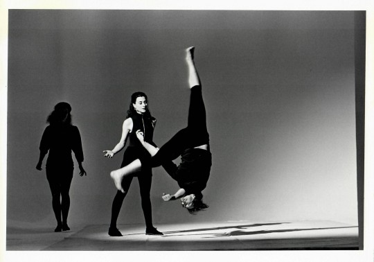 1991-DEPORTMENT- Jane Comfort, Nancy Alfaro, and Stephen Petty-Photo by Arthur Elgort