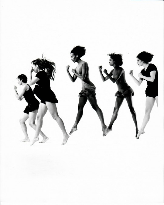 1994-S/HE-Stephanie McKay, Suzie Nece, Edisa Weeks, Christina Redd Johnson, Rebecca Hermos- Photo by Arthur Elgort