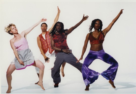 2001-ASPHALT-Elizabeth Haselwood, Stephen Nunley, Manchild Black, Aleta Hayes-Photo by Arthur Elgort