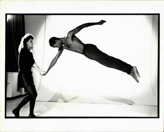 1980's-Jane Comfort and Erroll Grimes- Photo by Arthur Elgort for a concert at DTW