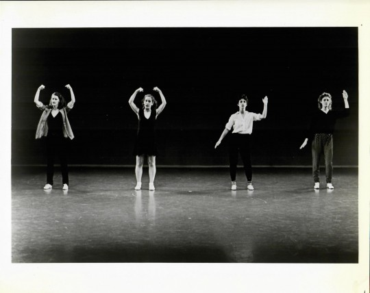 1982-FOUR SCREAMING WOMEN – Jane Comfort, Ann Papoulis, Mary Forlenza, Karen Callaghan-Photo by Paula Court
