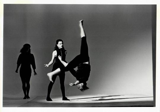 1991-DEPORTMENT- Jane Comfort, Nancy Alfaro, and Stephen Petty-Photo by Arthur Elgort