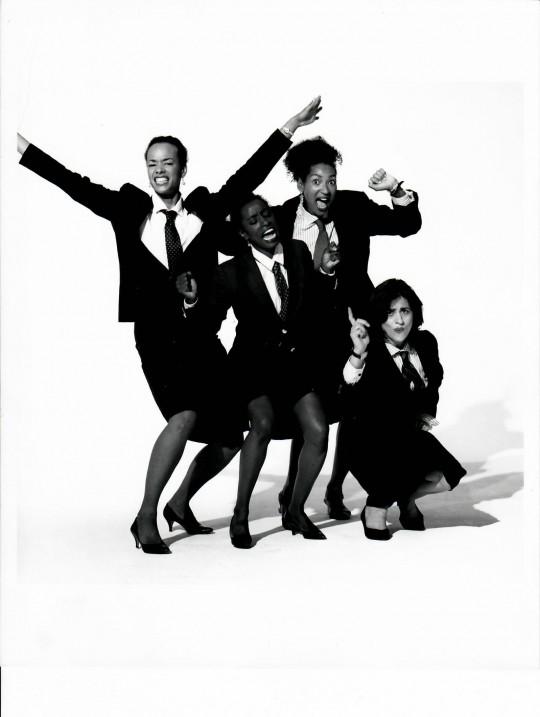 1994-S/HE- Edisa Weeks, Viola Sheely, Deborah Jackson, and Nancy Alfaro-Photo by Arthur Elgort